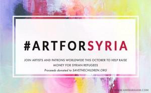 ARTFORSYRIA 300x186 - Events Around Town:  October