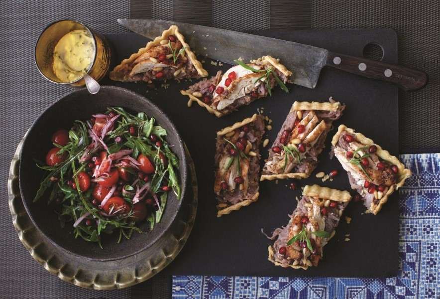 Lunch CaramelizedOnionTart  6446 e1429435480687 - Modern Flavours of Arabia - Dining with Suzanne Husseini