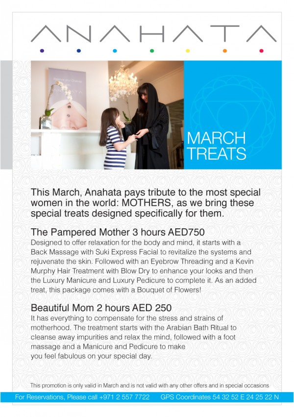 March Anahata e1425551769986 - Mother's Day Treat At Anahata Spa