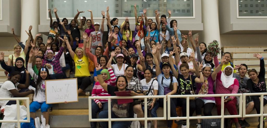 Zayed Sports City volleyball excursion Photo courtesy Vaida Nairn 1024x492 - Meet Babs Klijn - Spotlight Lady December 2014
