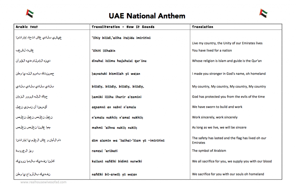 ishy bilady lyrics RHWAD 1024x661 - UAE National Anthem - Ishy Bilady