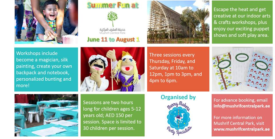 merry makers UAE  - The Summer Workshops for Kids